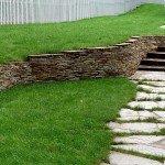 подпорная стенка из плитняка